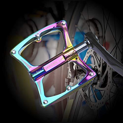 Asvert Pedales Bicicleta Montaña de Aleación de Aluminio Pedales para Bici del Camino Que Lleva Pedales