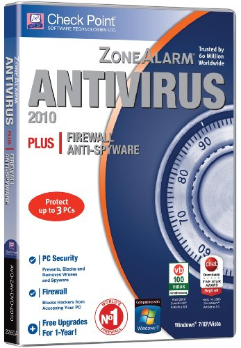 ZoneAlarm Antivirus 2010 - 3 User 1 Year (PC CD)
