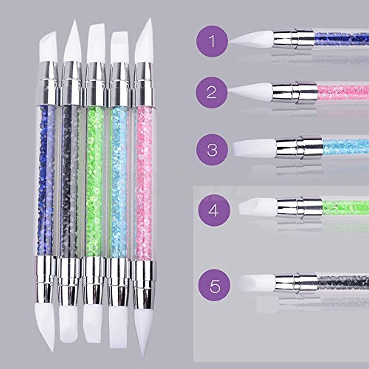 育成対立発生BEE&BLUE マニキュア ペン 両端 ネイル  3Dネイル ペイント メイク 美容用品