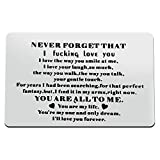 Engraved Wallet Card Insert Gift for Him/Her Wedding Anniversary Present for Husband/Wife Men Gifts Birthday Gifts for Boyfriend Girlfriend Groom Gifts from Bride Valentines Romantic Gifts