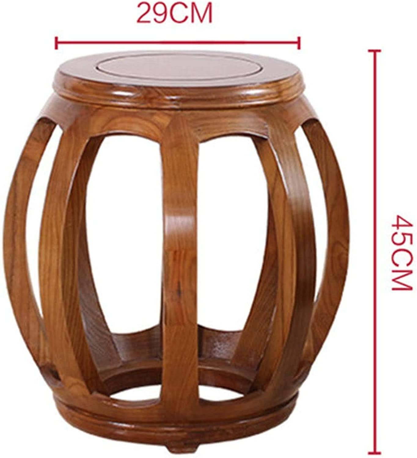 B.YDCM Wooden Bench- Home Stool Solid Wood Drum Stool Eucalyptus shoes Bench General Stool Stool Stool Guzheng Bench Classical - Wood Bench (color   B)