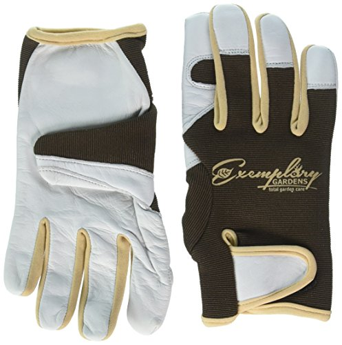 Leather Gardening Gloves for Women and Men. Adjustable Fastener and Breathable Spandex Back. Ideal...