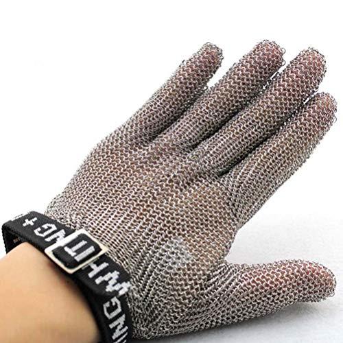 Schnittfeste Handschuhe-XHZ Einzel 316L Edelstahl Mesh Schneiden widerstandsfähighandschuhe Küche Metzger Sicherheit Arbeitshandschuhe Level 5 Schutz grau, Größe: S, M. (Size : Medium)