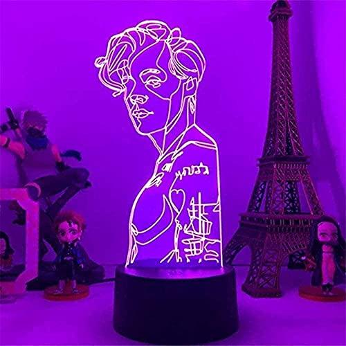 Geizland 3D niños luz de la noche americana LED luz niños táctil lámpara de mesa niña bebé dormitorio sueño fiesta de cumpleaños regalo vacaciones N102