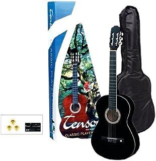 PURE GEWA Tenson F502116 Classic 4/4 Player Pack Guitar - Black