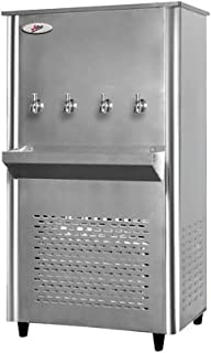 Milton Stainless Steel Water Cooler 4 Tap 85 Gallons with Full Stainless-Steel Body & 4 Push Button Taps for Chilled Water...