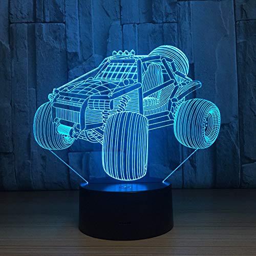 Bicicleta de montaña, luz de noche 3D para niños, niñas, regalo, lámpara de ilusión 3D para dormitorio al lado de la mesa, lámpara de mesa de escritorio con 16 colores cambiantes, regalo para niñ