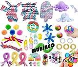 Juego de juguetes sensoriales Fidget Push Bubble Pop Fidget Pack Stress Relief Fidget Toy Autismo Necesidad especial Fidget Stress Reliever Squeeze Toys Set para niños adultos (Fidget Packs C4)