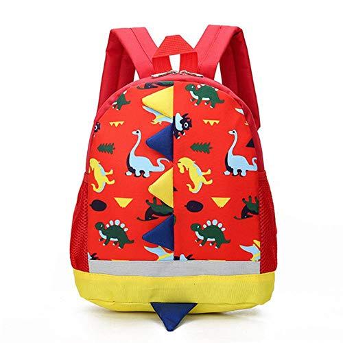 XMYNB School bag Kids Cartoon School Bag Dinosaur Backpack For Boys Children Backpacks Kindergarten Schoolbag Girls Knapsack Backpack,A Red
