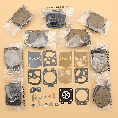 HaoYueDa Kit de carburador de 10 unids/Lote para Walbro K20-WAT, Juego de reconstrucción de reparación de diafragma, Walbro WA & WT, soplador de carburador, cortadora de Motosierra, bordeadora