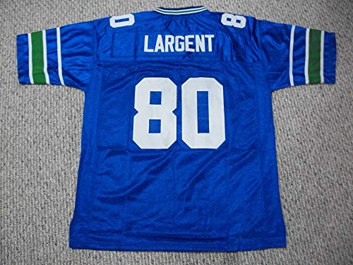 Unsigned Steve Largent #80 Seattle Custom Stitched Blue Football Jersey Various Sizes New No Brands/Logos (M)