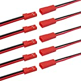 25 pares de cables de conector JST Adaptador de conector de cable de enchufe de conector de tira de luz LED (rojo)