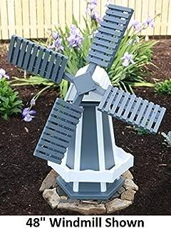 wood garden windmills