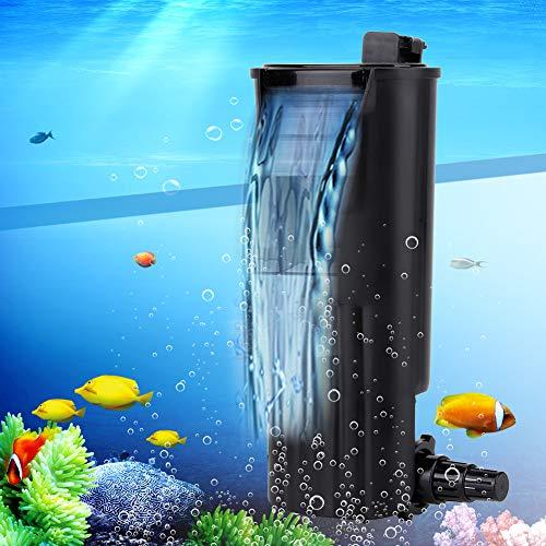 Pssopp Aquarium Filter Interner Aquarium Filter Niedriger Wasserspiegel Innenfilter Aquariumpumpe Luftpumpe Schwammfilter für Fisch Schildkröte und Tank