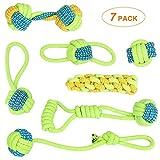 Welltop Hundespielzeug Seil, 7er-Pack Tau Hund Spielzeug,Hund Seil Spielzeug Set,Interaktives Kauspielzeug Spielzeug,Vorteilhaft für die Zahnreinigung des Hundes,für Welpe Kleine/Mittlere