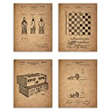 Unique Chess reproduction patent print Add these historical conversational art pieces to your home Four photos, 8x10 - 8 inches by 10 inches, Prints do not come framed Premium grade photo paper in a matte finish, 100 year archival rating, designed to...