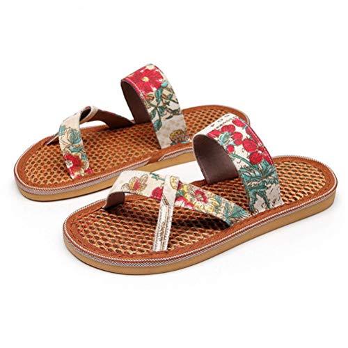 BIUU Sandalias de Mujer Respirable Plantilla de Palma Zapatillas de casa al Aire Libre Sandalias de Playa para Chicas Talla 35-40