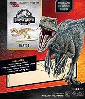 IncrediBuilds: Jurassic World: Raptor Book and 3D Wood Model