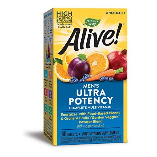 Nature's Way Alive! Once Daily Men's Multivitamin, Ultra Potency, Food-Based Blends (291mgper...