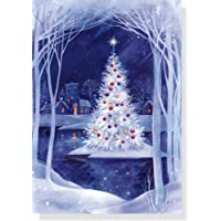 20-Count Christmas Island Holiday Boxed Cards with Coordinating Envelopes
