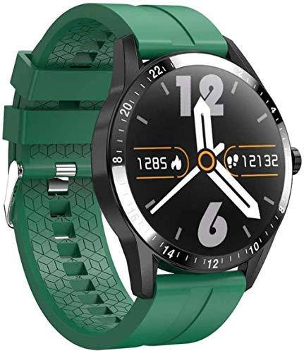 Reloj inteligente Fitness Tracker 1.3 Color Pantalla táctil IP67 Impermeable 15 Actividades Deportivas Monitor de Sueño Frecuencia Cardíaca Mensaje Recordatorio para iOS Android Verde