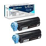 LCL Cartucho de tóner Compatible 44992402 44992401 MB401 MB451 MB441 2500 Páginas (2 Negro) Reemplazo para Oki B401 B401D B401DN MB441 MB451 MB451DN MB451DNW