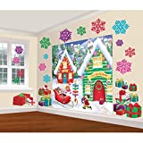 Amscan 670232 North Pole Wall Scene Setters Kit, 32 Ct. | Christmas Decoration 65' x 32 1/2'
