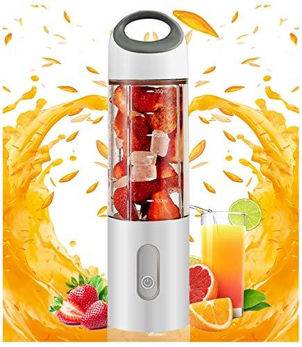 Tragbarer Mixer, Mini Tragbarer Standmixer mit USB Wiederaufladbarem 350ml Fruchtmischmaschine Sechs Klingen in 3D Magnetic Secure Switch Elektrischer Fruchtmischer Perfekt für Fruchtbabynahrung