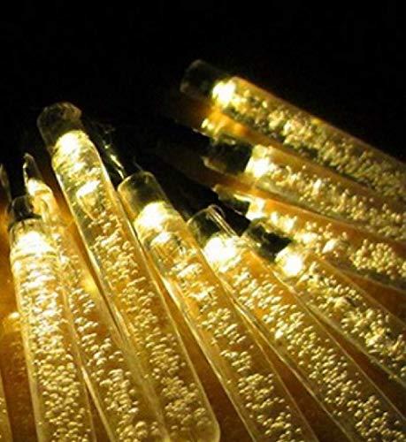 Luz de cadena solar columna de burbuja decoración de vacaciones jardín patio exterior luz de cadena impermeable 100LED blanco cálido