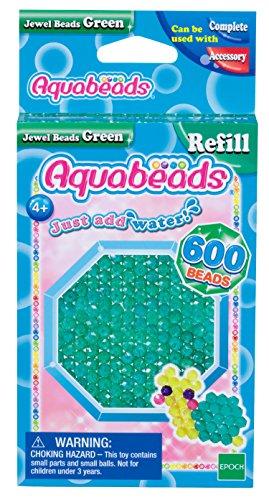 Aquabeads 32698 Grüne Glitzerperlen - Nachfüllset