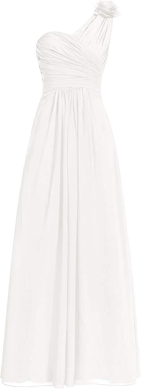 H.S.D One Shoulder Bridesmaid Dresses Long Prom Evening Dresses Floral Bridesmaid Gown
