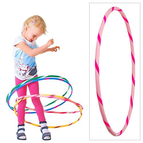 hoopomania De Colores para niños de Hula Hoop para pequeños Profesionales, Ø60cm, Rosa-Pink