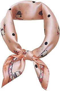 Sciarpa di seta quadrata a forma di cucciolo di cartone animato Sciarpa di seta piccola Sciarpa di seta piccola 53x53 cm (...