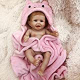 Otard Reborn Baby Doll Girl,Real Tough for Kids and Partner.Soft Weighted Body,Cute Lifelike Handmade Silicone Sleeping Doll
