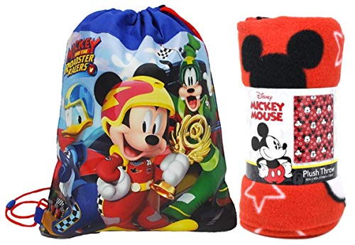 Disney Northwest Mickey Mouse Fleece Throw Blanket & Sling Tote Bag - 2 pc Set