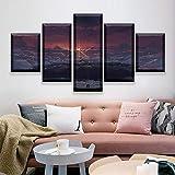 sakkdaull Modulare Leinwandbilder Arbeiten Home Decor 5 Stück Anime Film Ihr Name Poster HD gedruckte Bilder Wohnzimmer Wandkunst