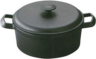 岩鋳 Iwachu ファミリーシチューパン23 黒焼付 内径:23.5cm IH対応 南部鉄器 21639