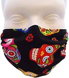 Breathe Healthy Dust, Allergy & Flu Mask - Comfortable, Washable Protection from Dust, Pollen, Allergens, Cold & Flu Germs; Asthma Mask; Skull Pattern Mask (Adult, Sugar Skulls)