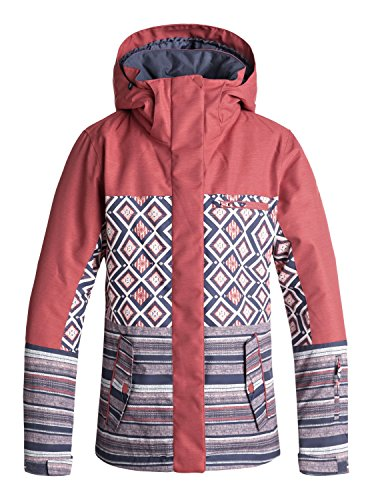 Roxy Damen Jetty Block Snow Jacket, Dusty Cedar-Edit Song geo, S