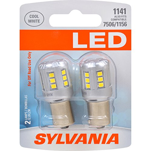 SYLVANIA - 1141 LED White Mini Bulb - Bright LED Bulb, Ideal for Daytime Running Lights (DRL) and Back-Up/Reverse Lights (Contains 2 Bulbs)