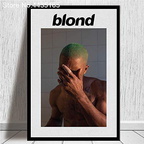 MHHDD Dekorative Frank Ocean Poster Blonde Sänger Star Poster und Drucke Wandkunst Bild Leinwand Malerei für Wohnzimmer Home Decor 50x70CM No Frame