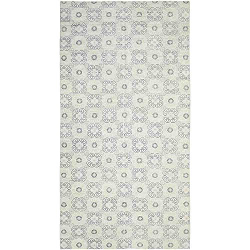 Solo Rugs Modern Kensington One of a Kind Hand Knotted Area Rug, Parchment, 10' 3