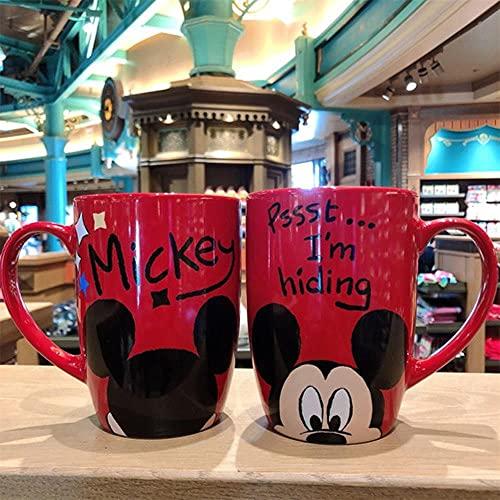Café Cerámica Desayuno Regalos 530Ml Disney Mickey Mouse Tazas De Cerámica De Dibujos Animados Minnie Donald Duck Pooh Pig Taza De Leche De Cerámica Tazas Y Tazas Taza De Café Taza De Viaje