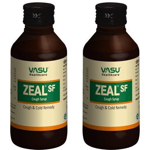 Vasu Gesundheitswesen Zeal SF Husten Sirup 100 ml (Packung von 2)
