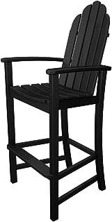 POLYWOOD Adirondack Bar Height Chair, Black