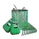Best Leaf Rakes - Gardzen 12 Tines Gardening Leaf Rake Set, Comes Review