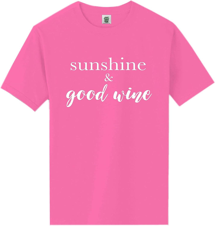zerogravitee Sunshine & Good Wine Short Sleeve Neon Tee