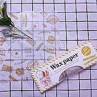 XZJWL 50個/箱キッチン屋外バーベキュー食品グレードワックスペーパーパンのサンドイッチバーガーフライドポテトパッケージグリース紙DIYペストリーベーキングツール (Color : A)