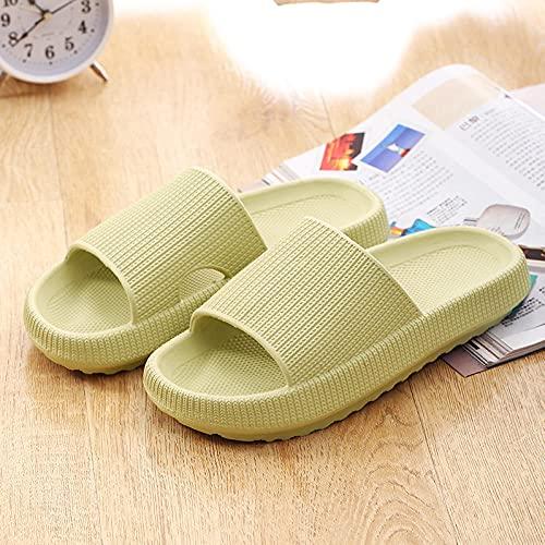 liangchenjingpin Zapatos De Playa Y Piscina,Zapatillas para Hombres Y Mujeres Sin Deslizamiento para Mujer, BañO De Dormitorio En El Hogar Zapatillas De Piscina para JardíN Al Aire Libre Verde 39/40