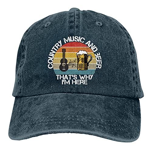 Jopath Country Music & Beer - Gorra de béisbol para mujer y hombre